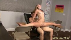 Dirty flexi contortion sex at the classroom Thumb