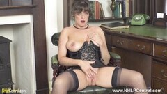 Kinky Brunette JOI flaunts big tits and juicy pussy in nylons Thumb
