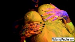 Naughty Natasha Shoots A fun Black Light video Thumb