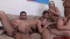 Naughty Nubile babe Lindsey and Nikki fed cock and banging orgy Thumb