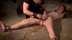 Hot Teen in tight shorts gets punished and cums hard Thumb