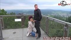 Kinky german punk ebony teen public sextape and facial Thumb