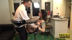 Bound and whipped submissive gets her fill Thumb