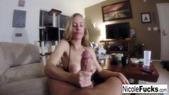 Sexy Home movie of Nicole Aniston giving a POV Sucking Thumb
