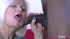 Kinky Granny Lacey Starr gets analized by bbc Thumb