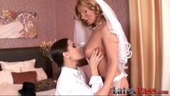 Sweet Bride loves being a lesbo bottom bitch for her girl Thumb