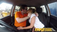 Fake Driving School Blonde Polish MILF gets slammed Thumb