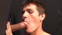 Sexy Nick Sucks Dick At Gloryhole Thumb
