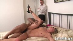 Steamy Wife Amanda Blow Spreads for Black Cock Thumb
