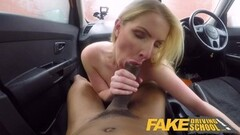 Fake Driving School Long black cock pleases sexy blonde Thumb