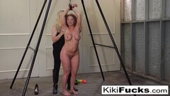 Happy Kiki Daire gets tickled until she almost pees herself Thumb