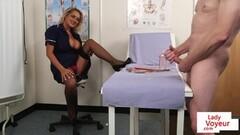 CFNM voyeur nurse instructing hot cock jerkoff Thumb