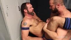 Naughty Raw Locker Room Bear Threesome Thumb