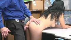 Sexy Monica Sage caught by security guard Thumb
