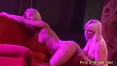 Cock hardening lesbian porn show in public Thumb