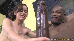 Cute Teen Cheerleader Mae Meyers Fucks Black Dick Thumb