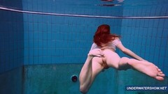 Amazing hairy under water show by hot Marketa Thumb