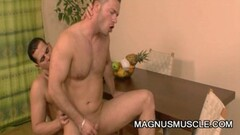 Stud rides muscle dude cock Thumb