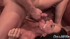 Steamy Mature wife banged and facial in front of husband Thumb