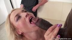 Blonde German Swinger Wife Fucks Big Black Cock Thumb