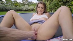 Outdoor bouncing Ivy Rose smashed in her tight pussyhole Thumb