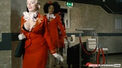 Pussyhole of Flight Attendant Freddy Fox Banged Balls Deep Thumb