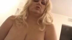 BBW Blonde MILF Rides Cock Thumb