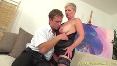 Busty stepmom enjoys stud cock Thumb