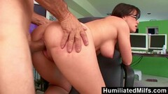 Horny milf Jennifer White Bent Over Thumb