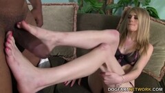 Allie James gives BBC footjob Thumb