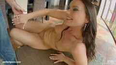 Pretty Wendy Moon cock gobbling and creampied ass Thumb