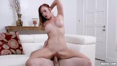 Sexy Dani Jensen takes dick deep in her clit slit Thumb