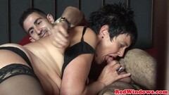Dutch amateur devours this hard dick Thumb