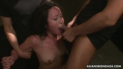 Dominated asian sucking cock Thumb