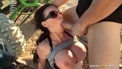 Cowgirl riding brunette Nikki Benz Thumb