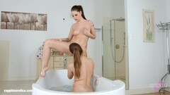 Bathtub babes by Sapphic Erotica bathroom babes Thumb