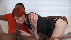 Tattooed amateur slavers over this huge dick Thumb