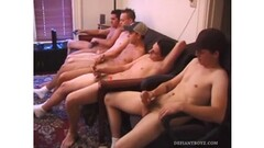 Cock beating horny studs Thumb