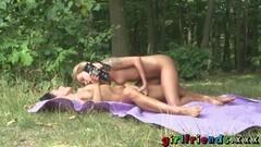 Girlfriends Exhibitionist lesbians outdoors sex Thumb