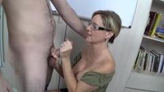Jodi West jerks this hard cock Thumb