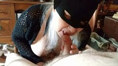 Naughty Busty Blonde Amateur Wife Sucks Her Husbands Tiny Cock Thumb