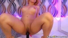Kinky Wild Babe Rides Her Dildo Thumb